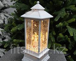 """Новогодний подарок """"Фонарь с ангелом"""" с динамичной подсветкой и эффектом летающего снега."""