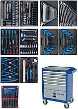 Набор инструментов в синей тележке, 173 предмета KING TONY 932-000AMB