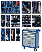 Набор инструментов в синей тележке, 286 предметов KING TONY 934-010AMB