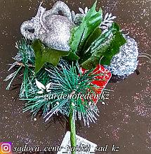 Новогодний декор. Украшенные веточки в вазочку (цена за 1 веточку)., фото 3