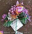 Новогодний декор. Украшенные веточки в вазочку (цена за 1 веточку)., фото 2