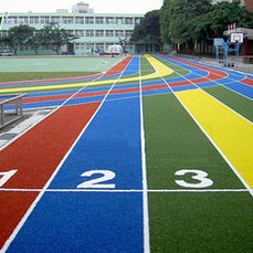 Спортивные покрытия , беговые дорожки на основе резиновой крошки