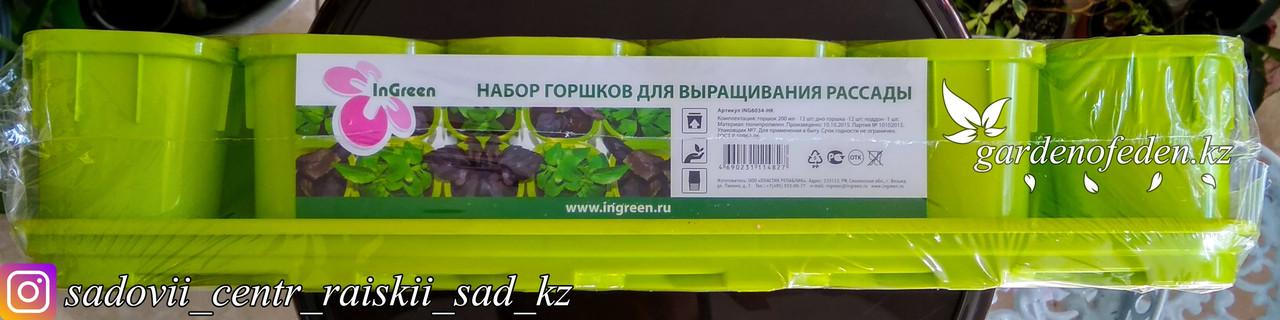 Набор горшков для выращивания рассады. 12 штук по 200мл.