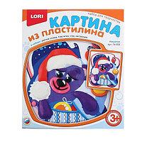 Набор детского творчества LORI Картина из пластелина Мишутка
