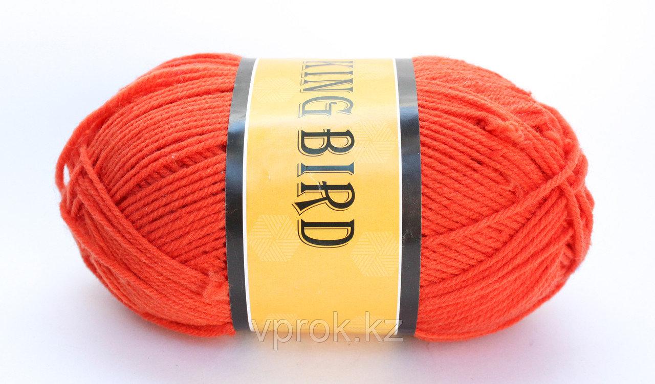 Пряжа акриловая, KING BIRD, 100 гр., красная - фото 1