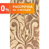 Кафель для ванной Saloni brown 01 Декор 30х50