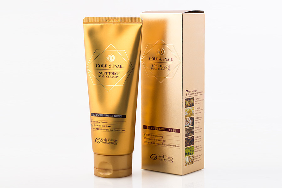 Gold Energy Snail Gold Snail Foam Cleanser Soft Touch Cleansing -  Очищающая пенка