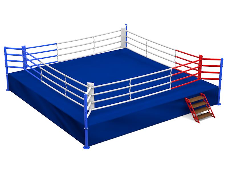 Ринг боксерский с помостом 6,1 х 6,1 помост 1м (боевая зона 5м х 5м)