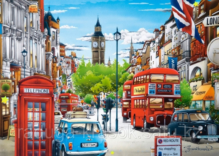 """Картины стразами на подрамнике """"Лондонское утро"""" 40*50"""