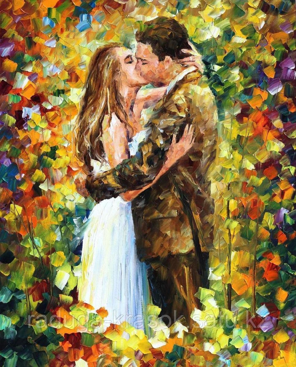 """Картины стразами на подрамнике """"Счастливая пара"""" Л.Афремов 40*50"""