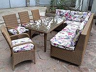 Комплект мебели из искусственного ротанга ( фактура натуральной ротанговой лозы)