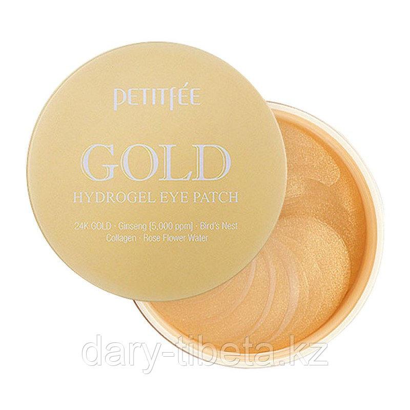 Petitfee Gold Hydrogel Eye Patch- Гидрогелевые патчи для области вокруг глаз с золотом 60шт