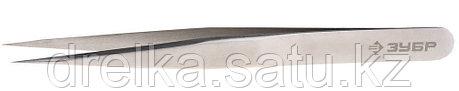 Пинцет ЗУБР д/электроники и точной механики, нерж сталь, антимагнит, прямой, сверхтонк заострен губки, 120 мм, фото 2