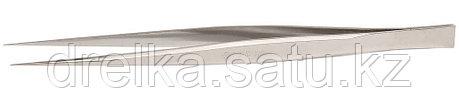 Пинцет ЗУБР д/электроники и точной механики, нерж. сталь, антимагнит, прямой, 165мм, фото 2