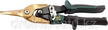 Ножницы по твердому металлу KRAFTOOL, двойная рычаж передача, Cr-Mo, титан покрытие, двухкомп ручка, прямые, фото 2