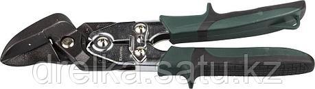 Ножницы по металлу KRAFTOOL BULLDOG проходные с двойной рычажной передачей, правые, губка с выносом, Cr-Mo, фото 2