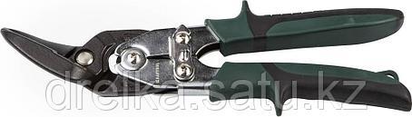 Ножницы по металлу KRAFTOOL проходные с двойной рычажной передачей, левые, губка с выносом, Cr-Mo, фото 2
