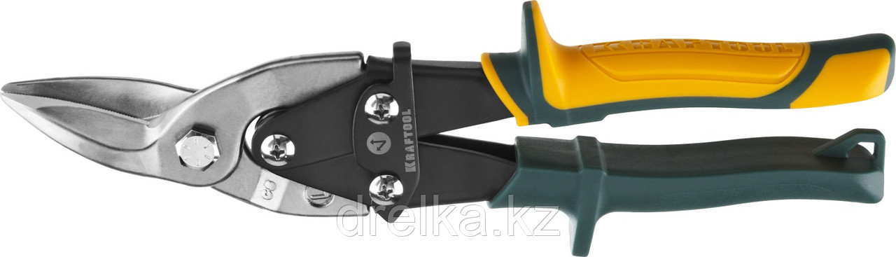 Ножницы по металлу KRAFTOOL Alligator, левые, Cr-Mo, 260 мм