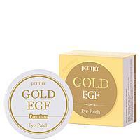 Petitfee Premium Gold & EGF Eye Patch- Гидрогелевые патчи для век с золотыми частицами и фактором роста EGF