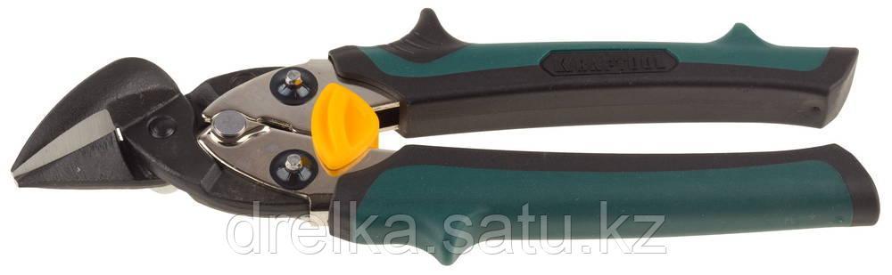 Ножницы по металлу KRAFTOOL COMPACT, Cr-Mo, компактные, правые, 180 мм