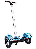 Гироскутер с ручкой Mini Segway A8 Синий Камуфляж