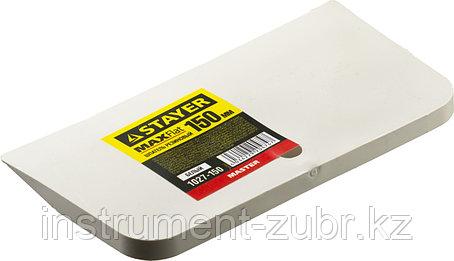 "Шпатель STAYER ""MASTER"" резиновый белый, 150мм, фото 2"
