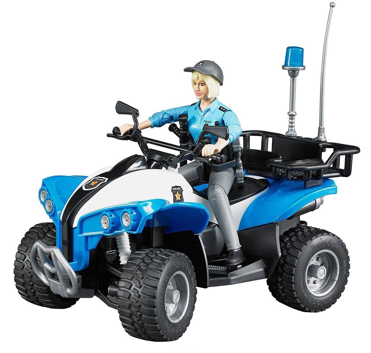 Bruder Полицейский квадроцикл с фигуркой