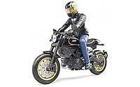 Bruder Мотоцикл Scrambler Ducati Cafe Racer с мотоциклистом