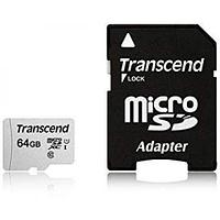 Карта памяти MicroSD 64GB Class 10 U1 Transcend TS64GUSD300S-A