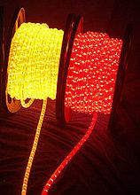 Светодиодный дюралайт, светодиодный дюралайт, круглый 2-х жильный  желтый, красный