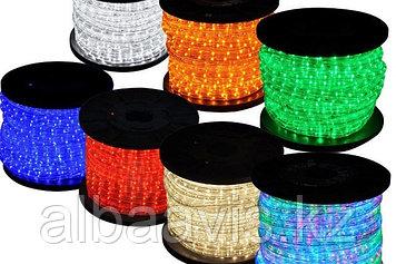Дюралайт светодиодный круглый. 2 жылы. 32 диода на метр, 13 мм. Все цвета.