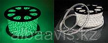 Светодиодный дюралайт 24 диода на метр, круглый, 2-х жильный, зеленый, белый