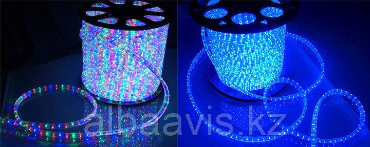 Дюралайт лед, светодиодный, плоский 3-х жильный  Синий, RGB (разноцветный)