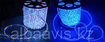 Светодиодный дюралайт 24 диода на метр, круглый, 2-х жильный.  синий, RGB (разноцветный)