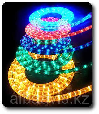 Светодиодный дюралайт плоский 4-х жильный все цвета белый,зеленый,красный,синий,желтый