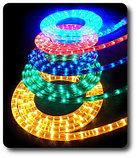 Светодиодный дюралайт плоский 4-х жильный все цвета белый,зеленый,красный,синий,желтый, фото 5
