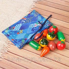 """Счетный материал """"Волшебный мешочек с овощи"""""""