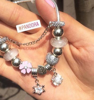 """Браслет """"Пандора"""", шармы в комплекте, серебро"""