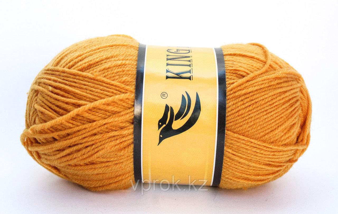 Пряжа акриловая, KING BIRD, 100 гр., оранжевая - фото 1