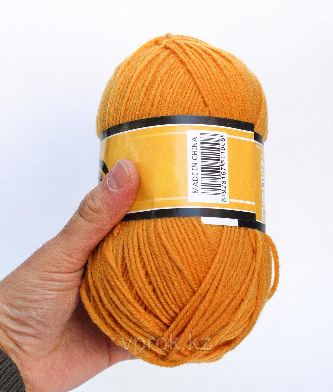 Пряжа акриловая, KING BIRD, 100 гр., оранжевая - фото 2