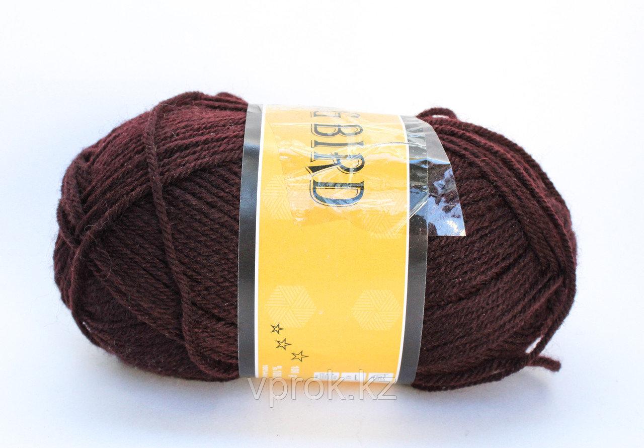 Пряжа акриловая, KING BIRD, 100 гр., коричневая - фото 1