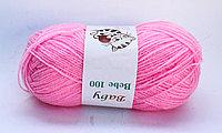 Пряжа акриловая, детская, 45 гр., розовая