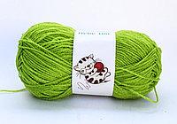 Пряжа акриловая, детская, 45 гр., зеленая