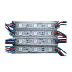 Светодиодные модули SMD 5050 RGB в силиконе