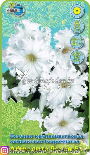 """Семена петунии крупноцветковой компактной бахромчатой """"Афродита белая F1"""""""