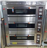 Пекарский шкаф коммерческий 3 - секционный газовый