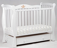 Детская кроватка Корона c продольным маятником БИ 07.10 Белый