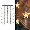 Гирлянда занавес 0,9х1,2м прозрач Звезды кабель прозрачный теплобелые 20диодов+10 flash LED indoor  2006-71