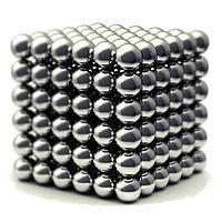 Магнитный конструктор Неокуб, 5мм, 216 шт, серебро