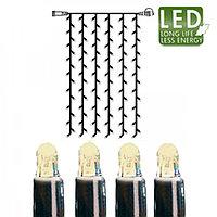 Гирлянда занавес 1x2м теплобелая кабель черный дополнительная 102диода LED outdoor 465-56